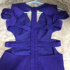 BCBGMaxAzria Dresses - Gorgeous Purple Long cut out back BCBGMAXAZARIA